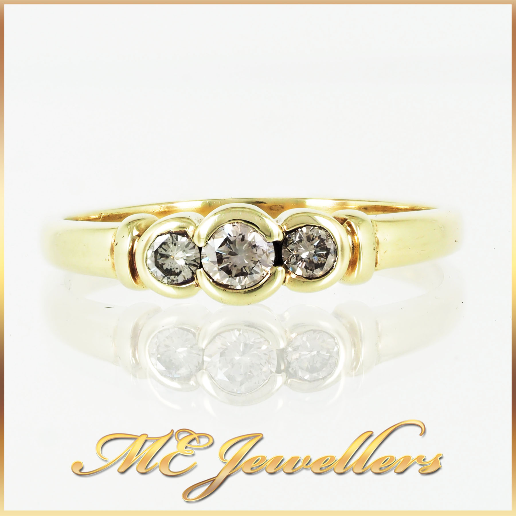 313 Trilogy Diamond Ring 9K Yellow Gold (5)
