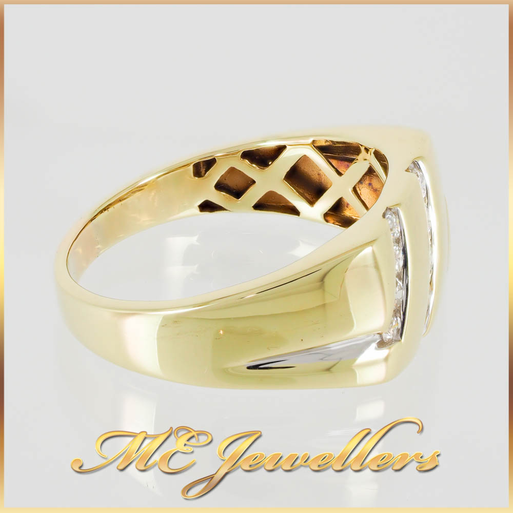 4645 Diamond Mens Dress Ring 9K Yellow Gold 4
