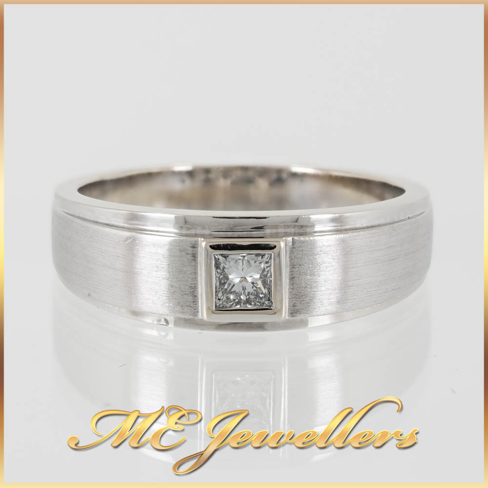 508 Diamond Mends Wedding Band 18K White Gold 6