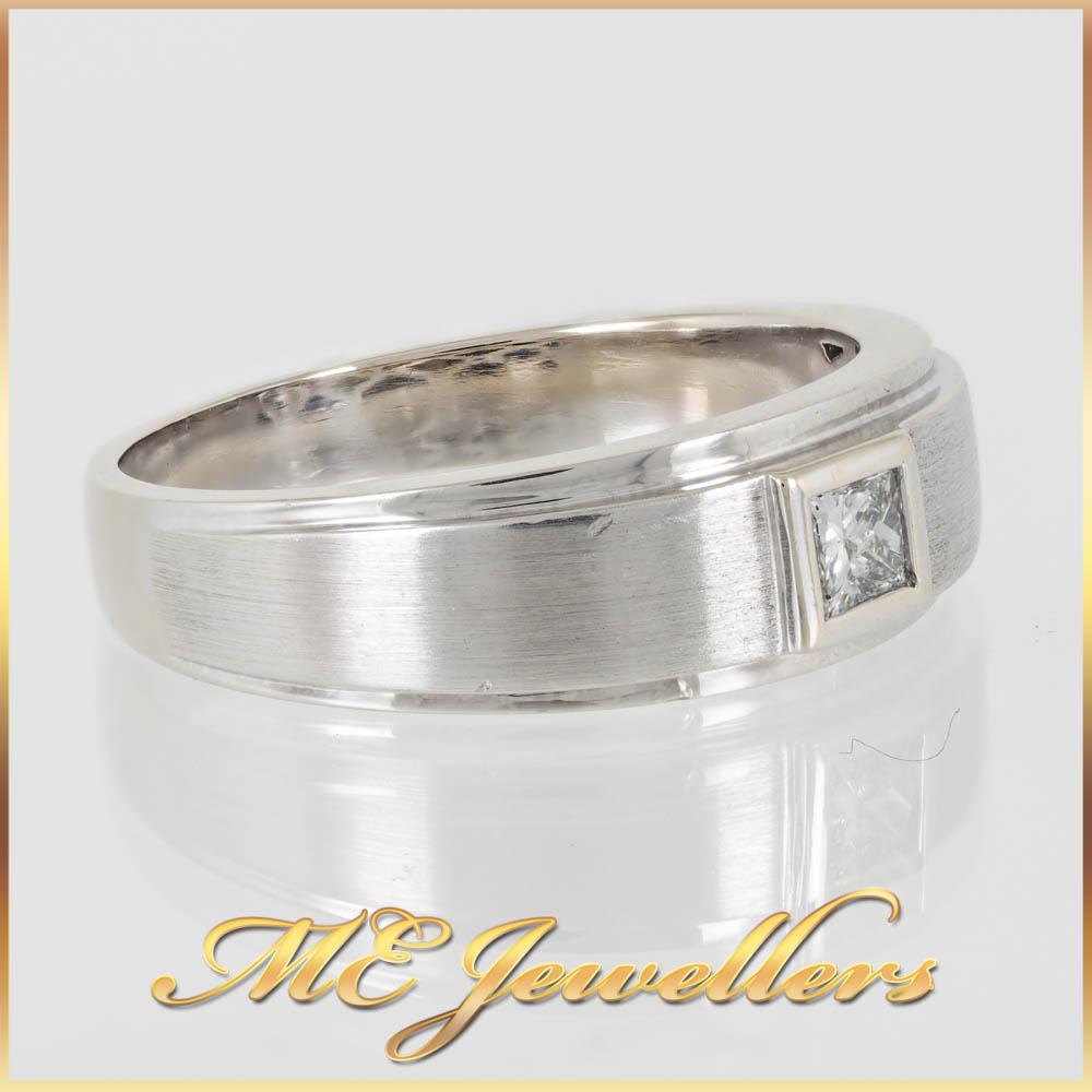 508 Diamond Mends Wedding Band 18K White Gold 5