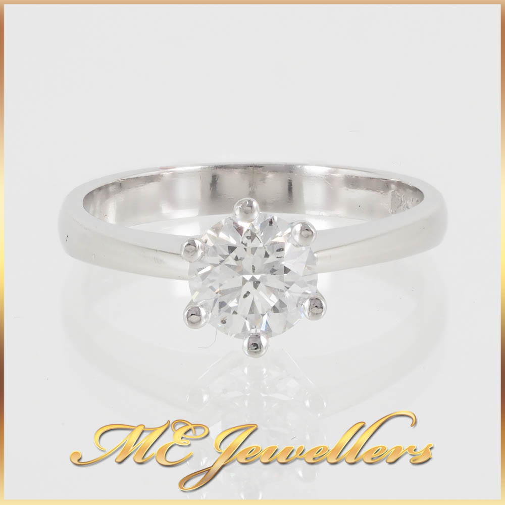 6924 Platinum Engagement Ring 0.80ct Diamond 1