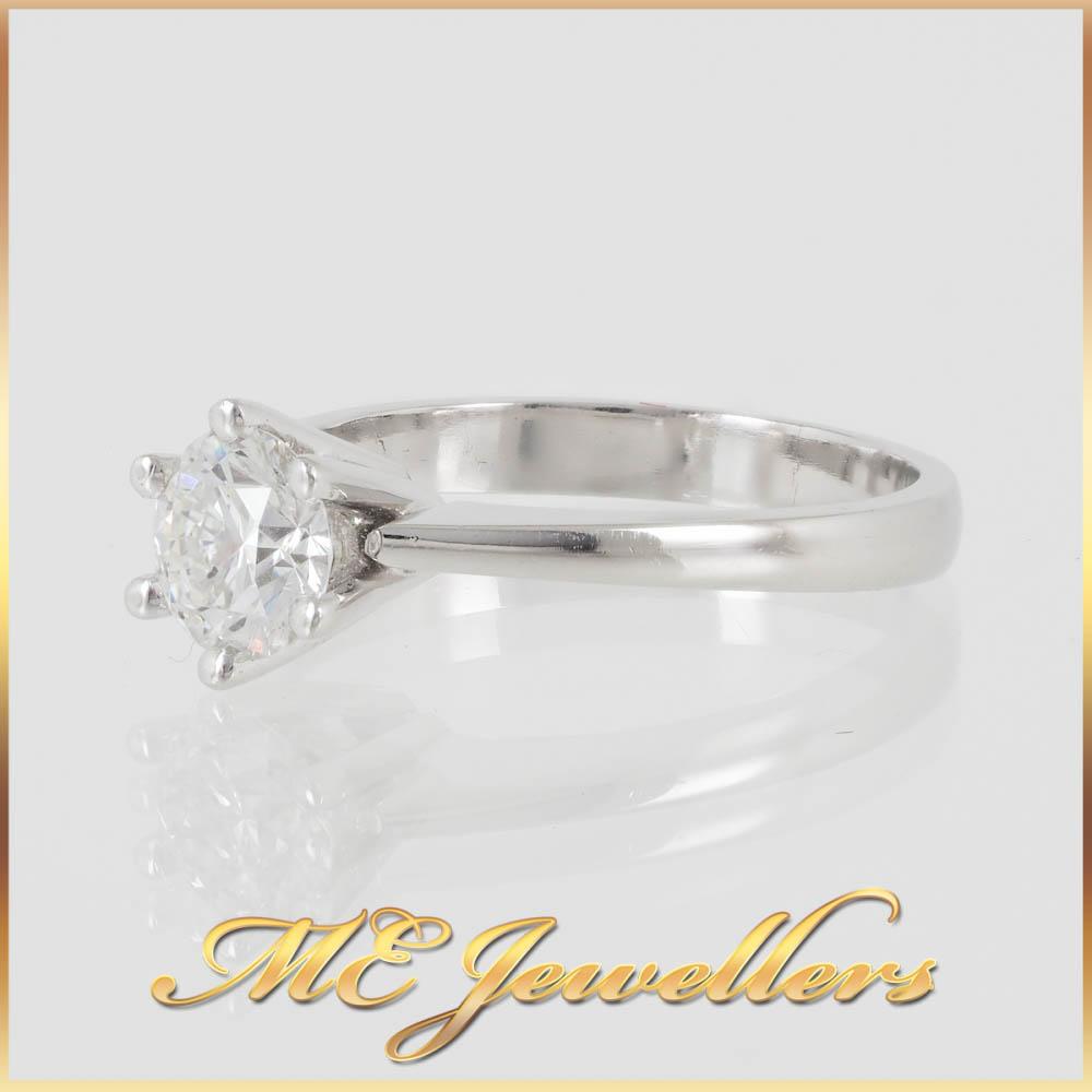 6924 Platinum Engagement Ring 0.80ct Diamond 3
