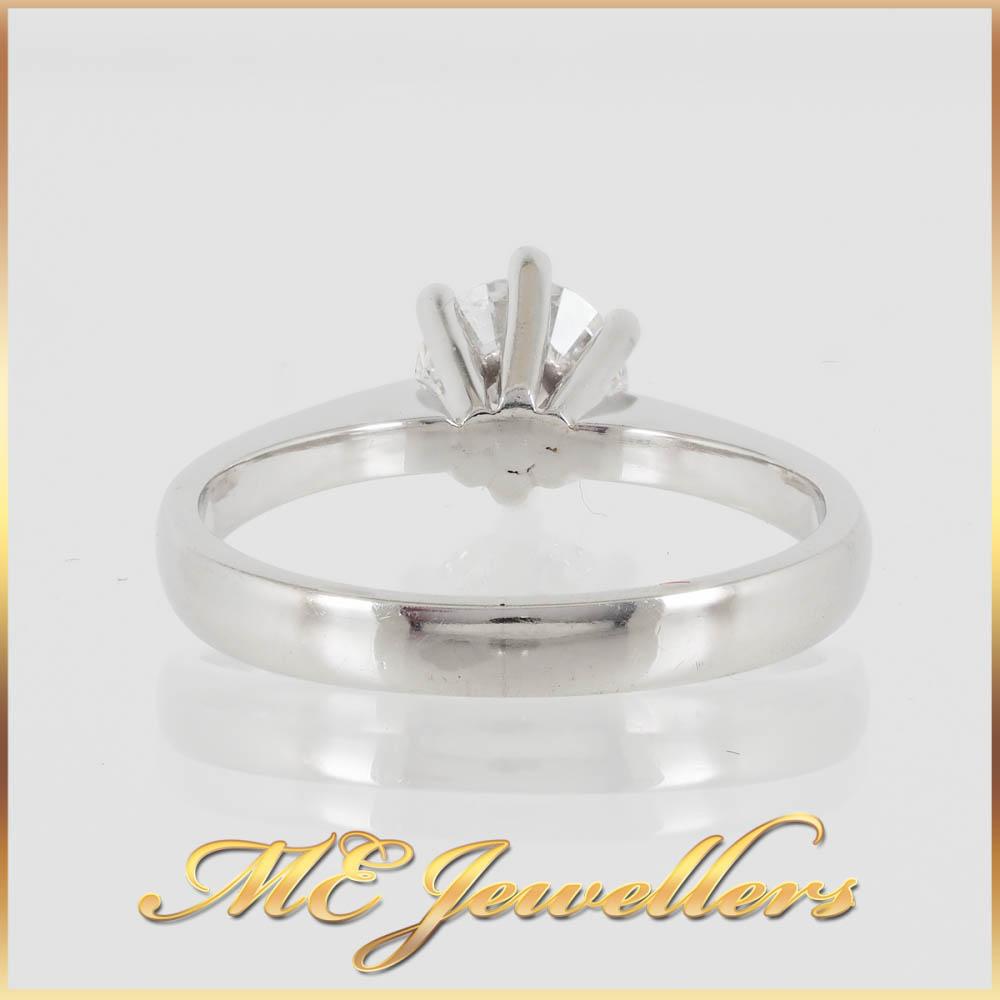 6924 Platinum Engagement Ring 0.80ct Diamond 5