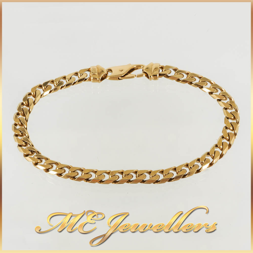 18k Yellow Gold Curb Bracelet
