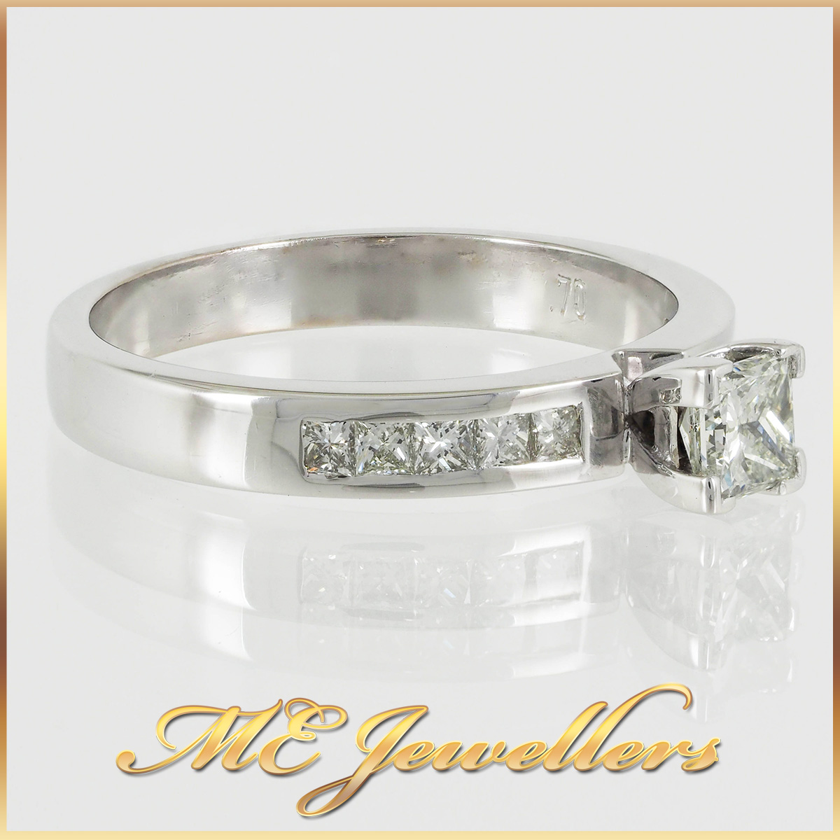 Petite 4 Prong 18k White Gold Diamond Ring