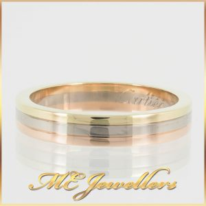 Cartier Vintage 18k Gold Triple Tone Band Ring