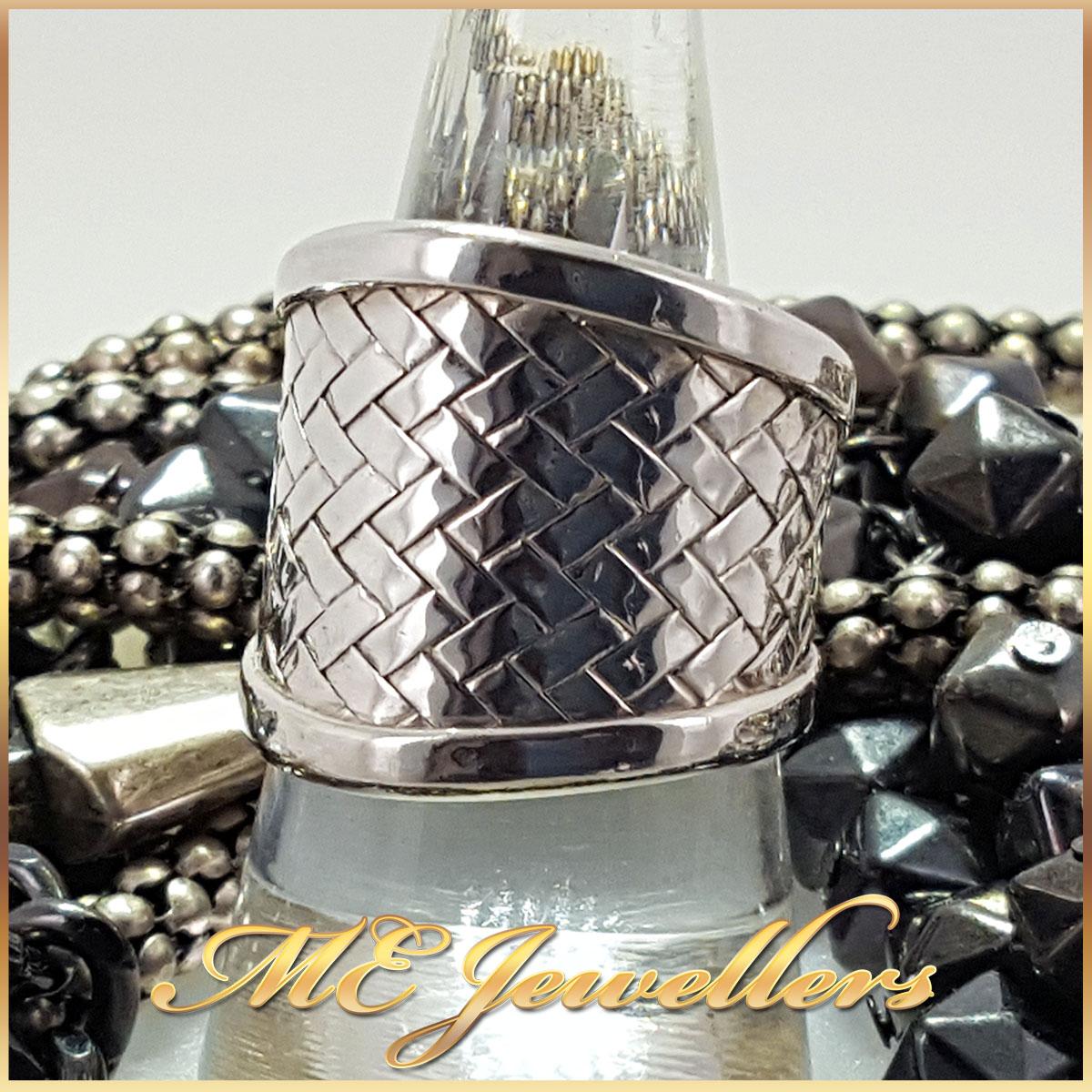 925 Sterling Silver Weave Pattern Ring