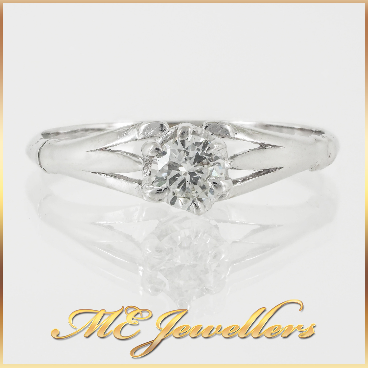 18k Classic 6 Prong set Solitaire