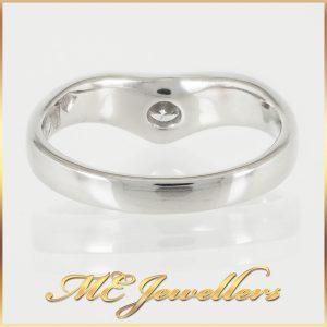 Platinum Wishbone Solitaire Engagement Ring