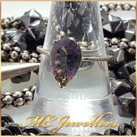 Mystic Topaz Sterling Silver Ring