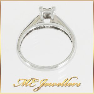14k Princess Cut Solitaire Cluster Ring