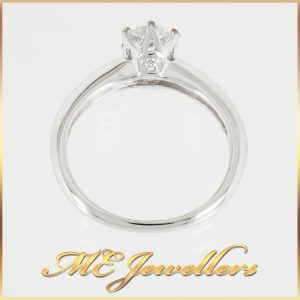 18k White Gold Round Solitaire Ring