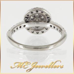9k Brilliant Diamond Pave set Half-band Ring