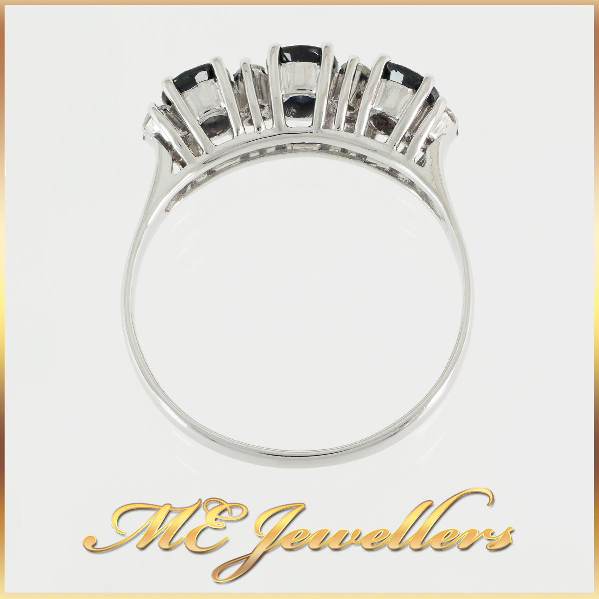 18k Sapphire & Diamond Dress Ring