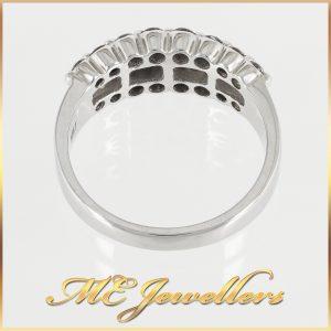 18k White Gold Pave Set Diamond Ring