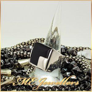 925 Sterling Silver Black Onyx Ring
