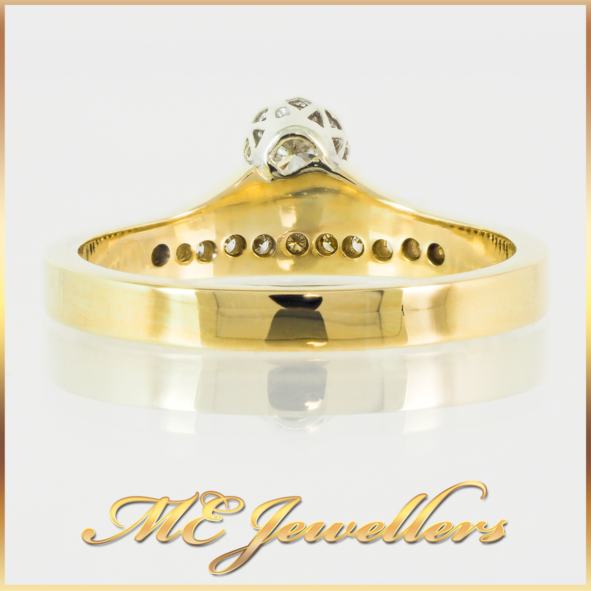 9CT High Rise Yellow Gold Dress Ring