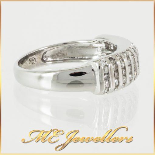5 Row Channel Set Diamond Dress Ring