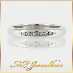 9K Channel Set Diamond Wedding Band