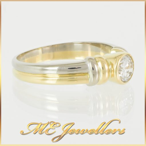 0.6CT Diamond Two-Tone Dress Ring