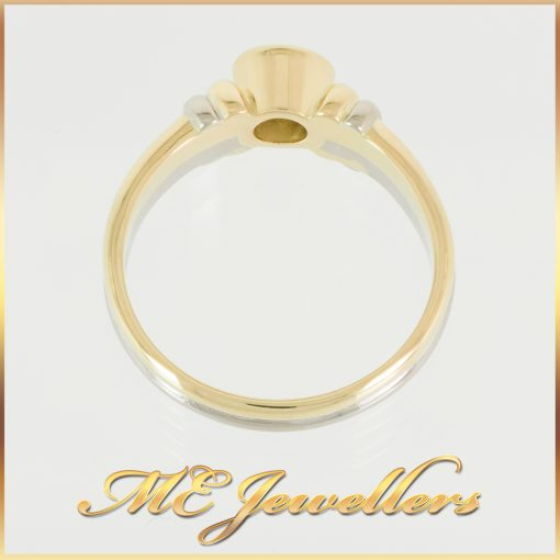 0.6CT Diamond Two-Tone Dress Ring