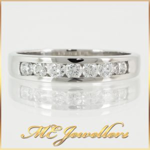 18K White Gold Diamond Wedding Ring