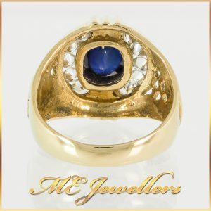 Blue Sapphire Mens Dress Ring