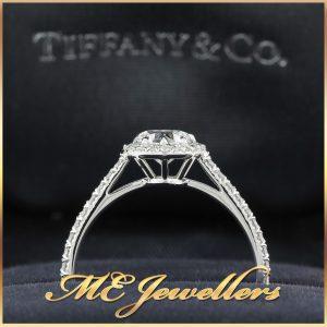 Tiffany & Co. Halo Heart Diamond Engagement Ring