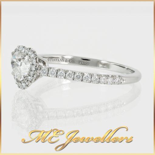 Tiffany & Co. 0.8TDW Halo Heart Diamond Engagement Ring
