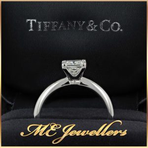 Tiffany Princess Cut Solitaire Diamond Engagement Ring