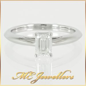 Tiffany Emerald Cut Solitaire Diamond Engagement Ring