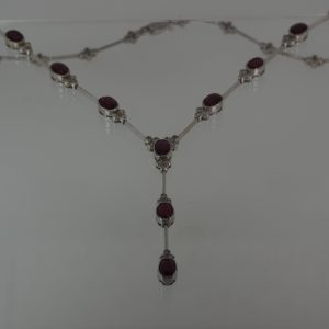 white gold articulated necklace