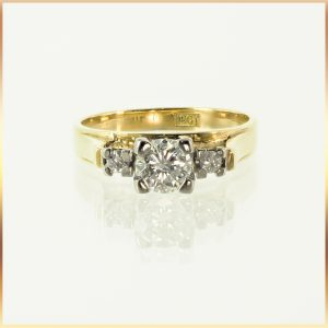 18k Diamond Three Stone Setting
