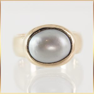 9k Rose Gold Pearl Ring