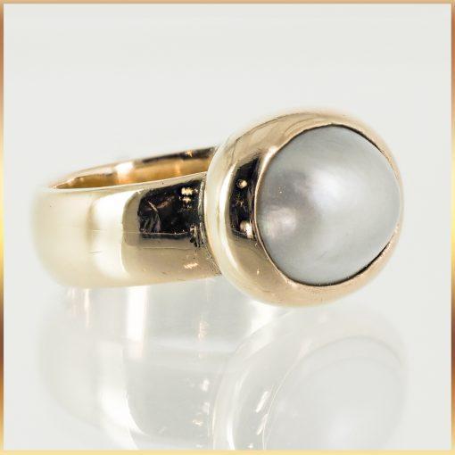 9k Rose Gold Pearl Ring