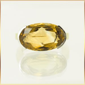 9k Gold Citrine Ring