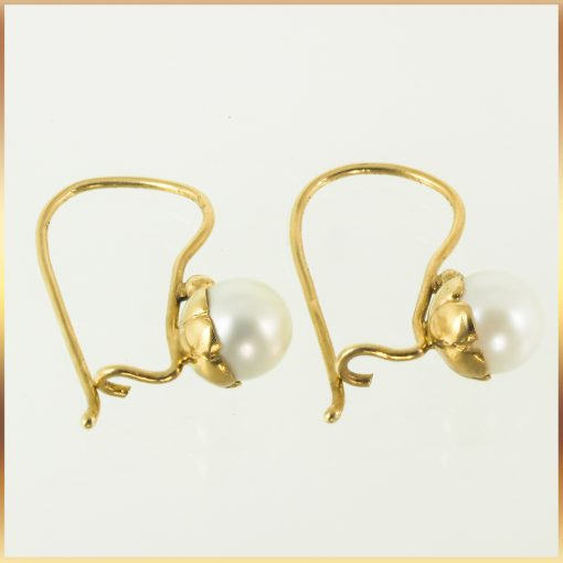 18k pearl drop earrings