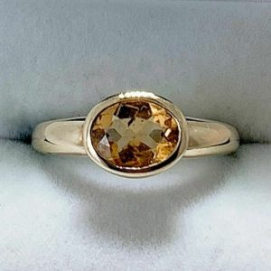 Yellow Gold Oval Citrine