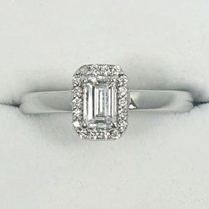 White Gold Diamond Halo