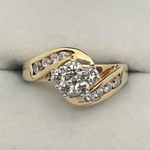 Bypass Cluster Diamond Ring