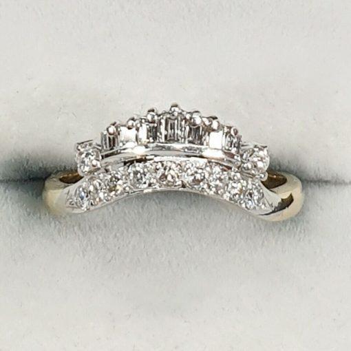 Baguette Diamond Crown Ring