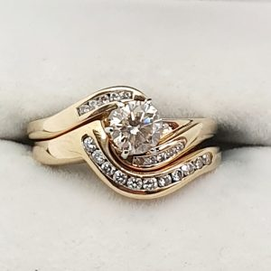Ladies Diamond Engagement and Wedding ring set