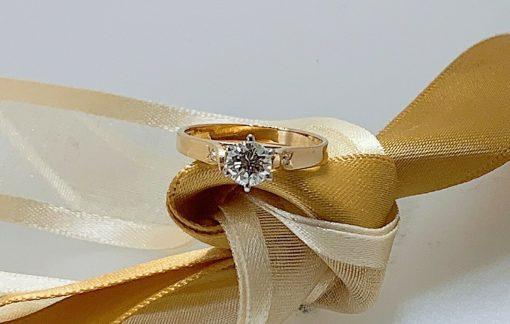 Brilliant Yellow White Gold