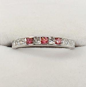 Pink Sapphire & Diamond Ladies
