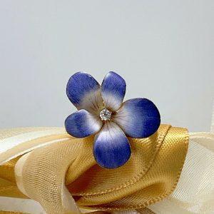 Purple Floral Flower Yellow