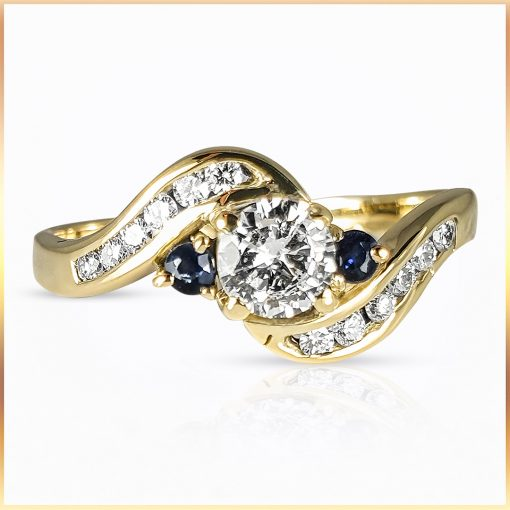 Bypass Sapphire Accent Ring