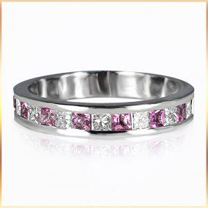 Alternating Pink Spinel Ring