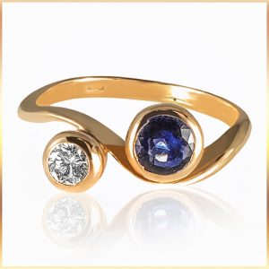 Floating Sapphire Solitaire Ring