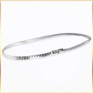 Platinum Snake Chain Bracelet