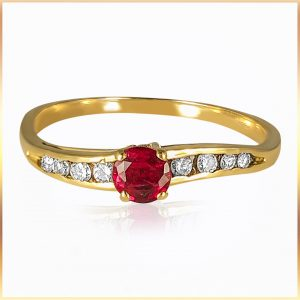 Ruby Ruby Red Wave RingDiamond Ring